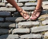 Sandals on Cobblestone
