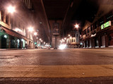 At the middle of the road by Tabrizi