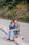 1974 Sean and Zane Oregon Coast