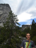 Michael with Nevada Falls