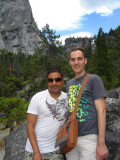 Rahul & Michael with Nevada Falls