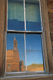Bodie church reflected