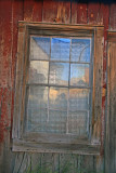 Lace curtained window