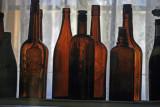 Old bottles in Bodie Museum