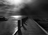 West Cape jetty by Dennis