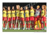 half of the women's hockey team from Spain