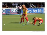 penalty corner for Spain against Germany