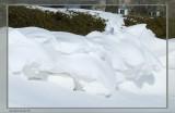 Neige sculptée par la nature