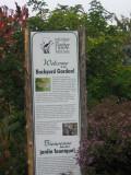 Backyard garden sign
