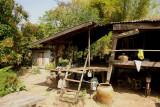 Old Thai house north-east near Laos, kitchen