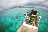 Lunch break on Panga Batang reef