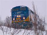 Westbound Via Rail passenger train