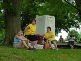 Canoe Van Buren volunteers at Farmington