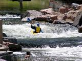Swimmer and Paddler-Man Made Whitewater Course
