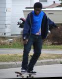 Neighbors skateboard