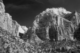 Mountains And Claer Skies In Zion-Utah