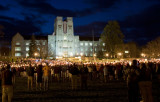 Burress Hall And A Sea Of Candles