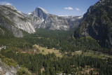 Half Dome And The Valley Below