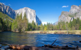 Waterfalls, El Capitan and The Merced
