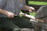 Hand Crafting Furniture At Mabry Mill