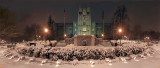 Virginia Tech-Burruss Hall- Night Snow