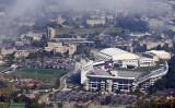 Rising Fog Over The Campus and Lane Stadium