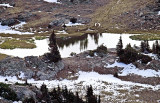 An Alpine Lake Below