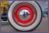 reflection in a hubcap