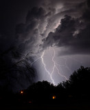 Lightning behind our house