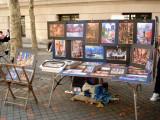 Stalls outside Met