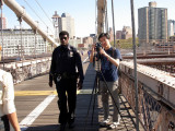 Policeman at Brooklyn Bridge