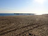 Sunset at Coney Island beach
