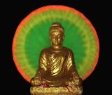 Buddha image with a large halo