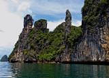 Hong Island, rock formations