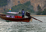 Longtail boat, close up