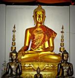 Buddha image with jeweled robe