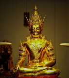 Image of the Buddha with a crown