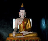 Image of the Buddha in a robe of gold
