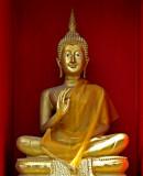 Buddha image in the chedi