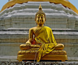 Buddha image with strings attached