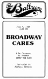 First use of the name BROADWAY CARES