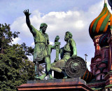 Sculpture in front of St. Basil's Cathedral, Red Square