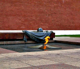 Eternal flame over the Tomb of the Unknown Soldier