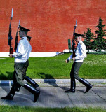 Changing of the guard at the war memorial
