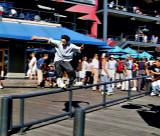 Skater on a railing