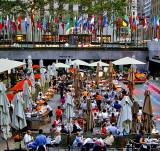 Outdoor cafe at Rockefeller Center