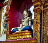 Buddha image at back of new wihan