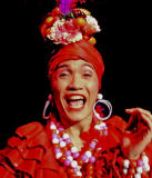 Carmen Miranda, close up