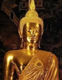 Buddha image in main chapel (ubosot), close up