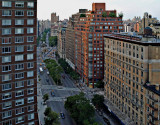 Looking up Broadway to 72nd Street